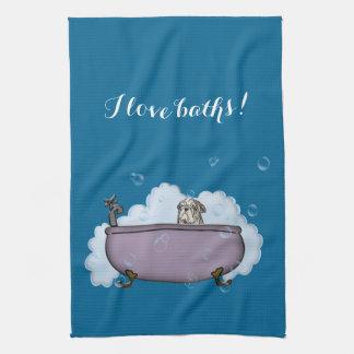 den roliga badrumdekoren för älsklings- Spa Kökshandduk