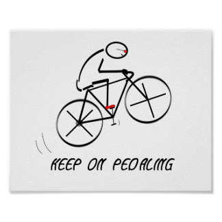 """Den roliga cyklistdesignen med """"håller på att poster"""