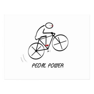 """Den roliga cyklistdesignen med """"pedalen driver"""" vykort"""