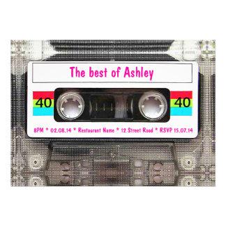 Den roliga DJ-80-talkassetten tejpar den 40th föde