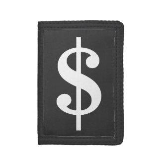 Den roliga dollaren undertecknar pengarplånböcker