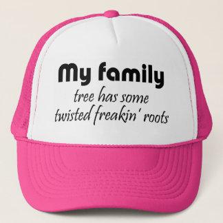 Den roliga familjen citerar mötetruckerkepsgåvor truckerkeps