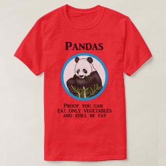 Den roliga feta pandaen, grönsaker fungerar inte tshirts