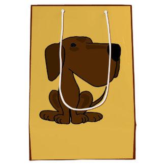 Den roliga gåvan för den chokladLabrador hunden