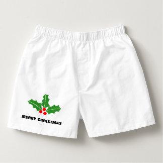 Den roliga god julboxare kortsluter för manar boxers
