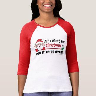 Den roliga julen är över ordstäv tee shirt