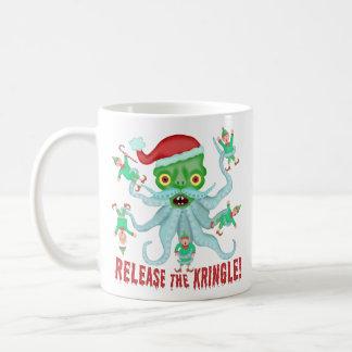 Den roliga julen frigör den Kringle jultomten Kaffemugg