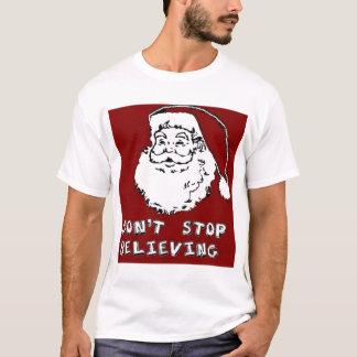 """Den roliga JULEN SANTA """"STOPPAR INTE ATT TRO"""" som T Shirts"""
