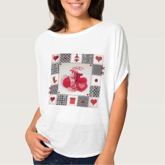 Den roliga julen skor T-tröja med sånger & video T-shirt