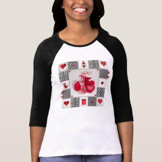 Den roliga julen skor T-tröja med sånger & video Tshirts