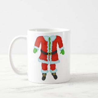 Den roliga jultomten förkroppsligar kaffemugg