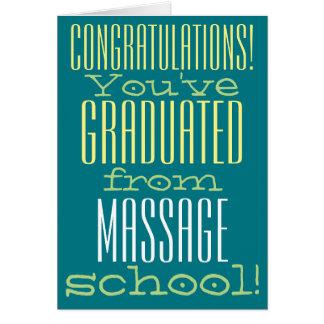 Den roliga massagen skolar studentengrattis hälsningskort