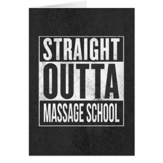 Den roliga massageterapistudenten skolar studenten hälsningskort