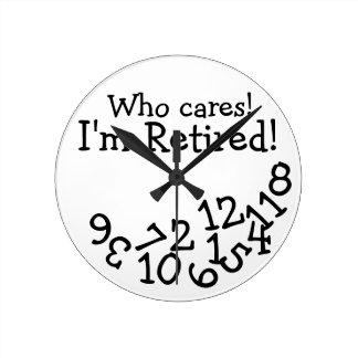 Den roliga pensionen tar tid på, som att bry sig medium rund klocka