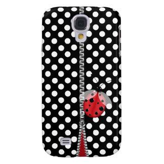 Den roliga polkaen pricker & det nyckelpigaSamsung Galaxy S4 Fodral