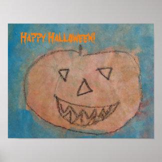 Den roliga pumpahappy halloween lurar poster