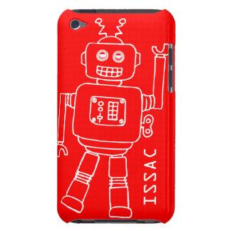 Den roliga roboten namngav röda & vitpojkar ipod t iPod Case-Mate skal