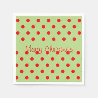 Den roliga röda gröna polkaen pricker mönstergod pappersservetter