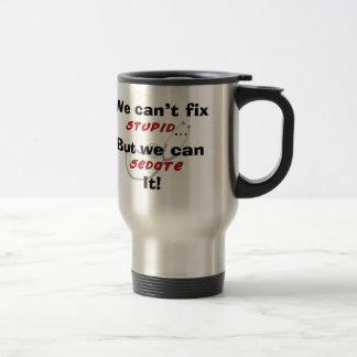Den roliga sjuksköterskatravel mug kan inte fixa rostfritt stål resemugg