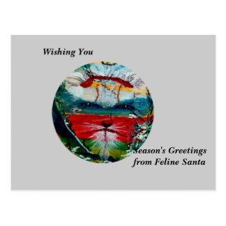 Den roliga solen vänder mot helgdagskort & vykort