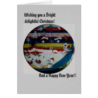 Den roliga solen vänder mot helgdagskort & vykort hälsningskort