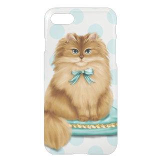 Den roliga utsmyckade katten kudder på iPhone 7 skal