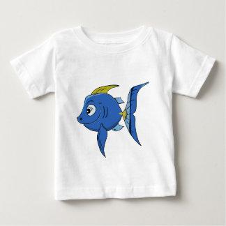 Den roliga vinkeln för för ungetecknadblått och tee shirts