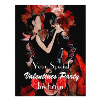 Den romantiska dansen kopplar ihop 10,8 x 14 cm inbjudningskort