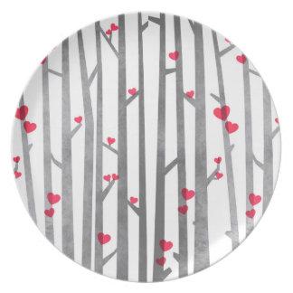 Den romantiska skogen pläterar dinner plate