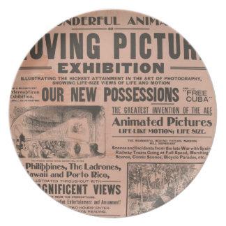 Den röra tidningen för bildutställningvintage plät tallrik