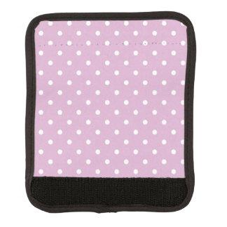 Den rosa Angorapolkaen pricker bagagehandtagsjalen Handtagsskydd