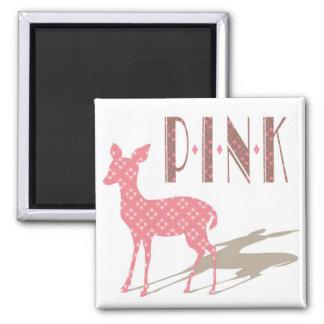 Den rosa Bambi designen kvadrerar magneten