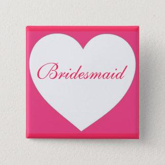 Den rosa brudtärnan för vithjärtaanpassadet standard kanpp fyrkantig 5.1 cm