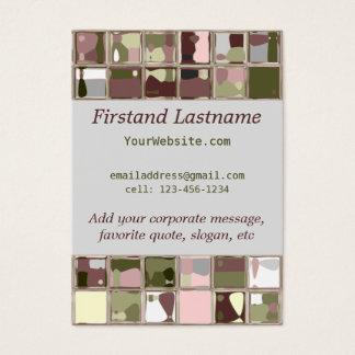 Den rosa Camo naturen belägger med tegel Visitkort