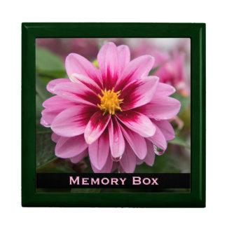 Den rosa dahliaen belägger med tegel boxas smyckeskrin