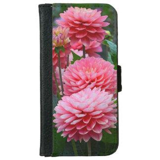 Den rosa dahliaen blommar iphoneplånbokfodral iPhone 6/6s plånboksfodral