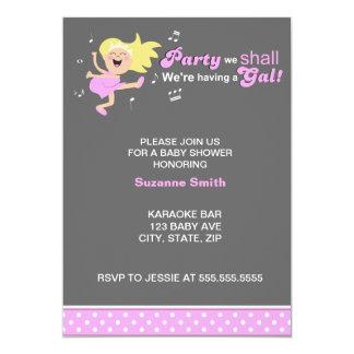 Den rosa dansen Mamma-till-är den moderna 12,7 X 17,8 Cm Inbjudningskort