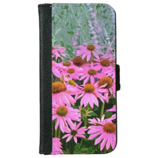 Den rosa echinaceaen blommar iphoneplånbokfodral plånboksfodral för iPhone 6/6s