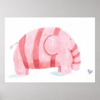 den rosa elefanten möter lilapippi poster