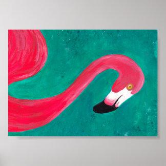 Den rosa flamingoen poster