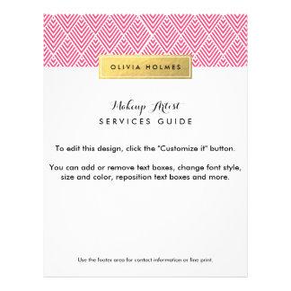 Den rosa & guld- fauxen omkullkastar sparremönster reklamblad