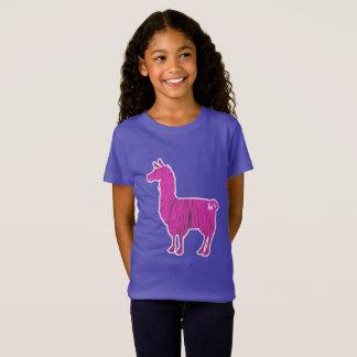Den rosa hårigllamaen lurar T-tröja Tröja