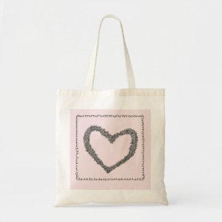 Den rosa hjärtatotot hänger lös tote bags