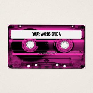 Den rosa kassetten tejpar personlig visitkort