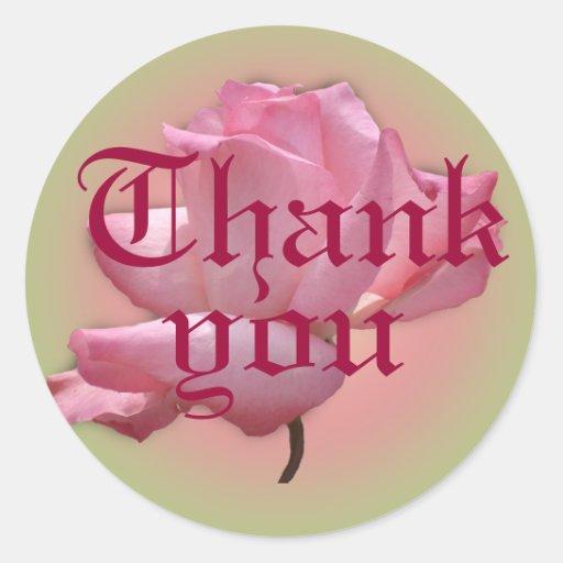 Den rosa klistermärken… tackar dig