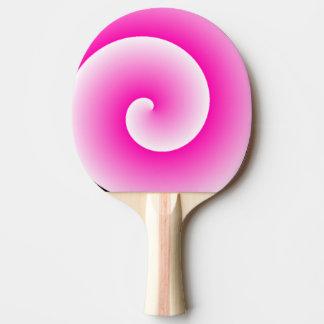 Den rosa klubban virvlar runt pingen Pong paddlar Pingisracket