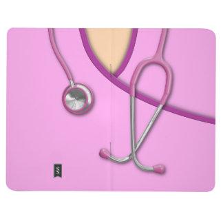 Den rosa läkarundersökningen skurar anteckningsbok