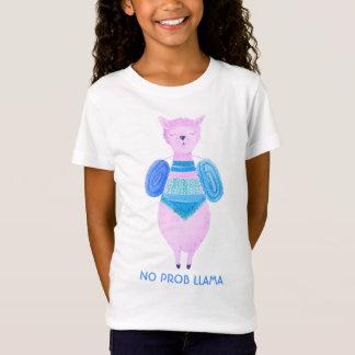 Den rosa llamaen i pastell färgar ingen ProbLlama Tee Shirt