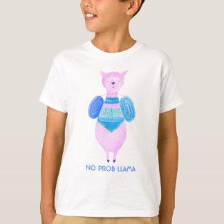 Den rosa llamaen i pastell färgar ingen ProbLlama Tröja