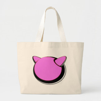den rosa logotyptotot hänger lös tote bags